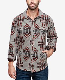 Lucky Brand Men's Boulder Creek Geo-Print Shirt Jacket