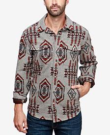 Lucky Brand Men's Boulder Creek Geo-Print Shirt Jacket