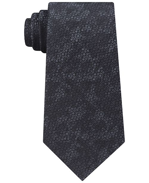 Calvin Klein Men's Layered Daisy Silk Tie