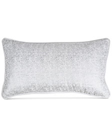 "Donna Karan Home Motion Metallic Velvet 11"" x 22"" Decorative Pillow"
