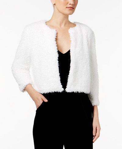 Calvin Klein Faux-Fur Cropped Jacket