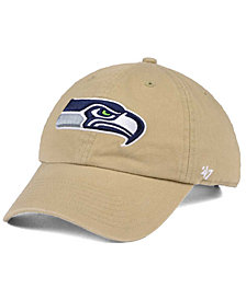 '47 Brand Seattle Seahawks Khaki CLEAN UP Cap