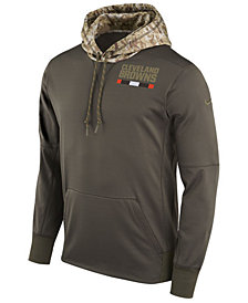 Nike Men's Cleveland Browns Salute To Service Therma Hoodie