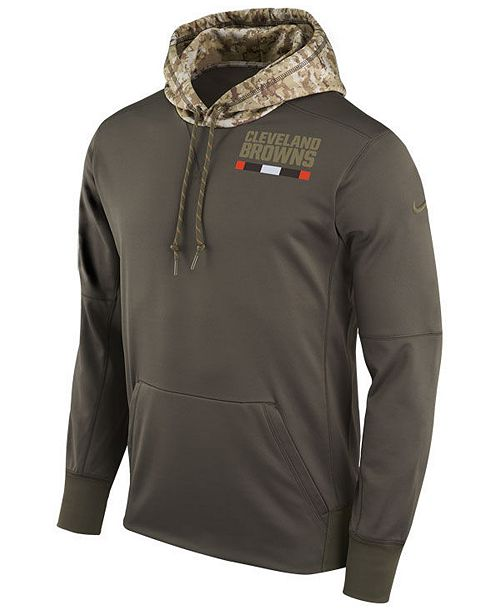 buy online 636b7 c3a2c Nike Men's Cleveland Browns Salute To Service Therma Hoodie ...