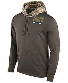 Nike Men's Indianapolis Colts Salute To Service Therma Hoodie