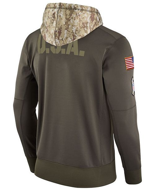 48eea6bba Nike Men s Miami Dolphins Salute To Service Therma Hoodie - Sports ...