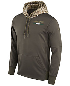 Nike Men's New York Jets Salute To Service Therma Hoodie