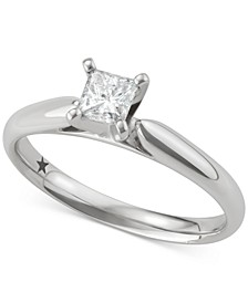 Princess Solitaire Engagement Ring (1/2 ct. t.w.) in 14k White or Yellow Gold