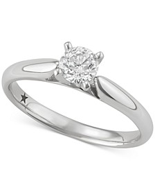 Solitaire Engagement Ring (1/2 ct. t.w.) in 14k  White or Yellow Gold
