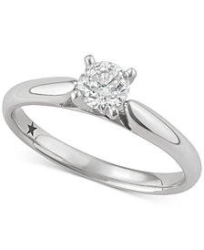 Macy's Star Signature Diamond™ Solitaire Engagement Ring (1/2 ct. t.w.) in 14k Gold or White Gold