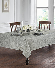 "Waterford Esmerelda Platinum 90"" Round Tablecloth"