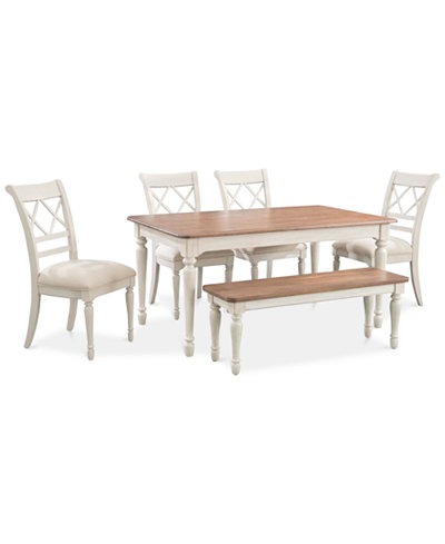 Cape May Dining Set 6 Pc Table 4 Side Chairs