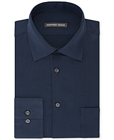 Geoffrey Beene Men's Fitted Wrinkle Free Bedford Corduroy Dress Shirt