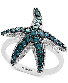 Seaside by EFFY® Diamond Starfish Ring (1 ct. t.w.) in 14k White Gold