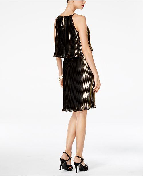 Thalia Sodi Metallic Pleated Dress 3ab5c32e1
