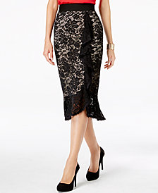 Thalia Sodi Ruffled Lace Skirt, Created for Macy's