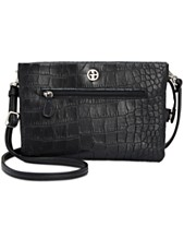 Giani Bernini Croc-Embossed Crossbody Wallet 87e58e2a190