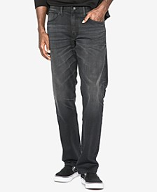Men's Eddie Relaxed Athletic Fit Tapered Stretch Jeans