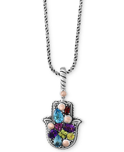 Balissima by effy multi gemstone hamsa hand pendant necklace 1 1 balissima by effy multi gemstone hamsa hand pendant necklace 1 1 aloadofball Images