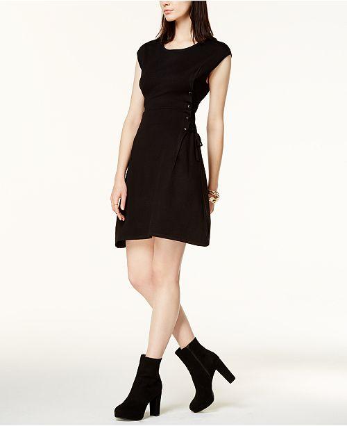 Bar Iii Lace Up Sweater Dress Created For Macys Dresses Women