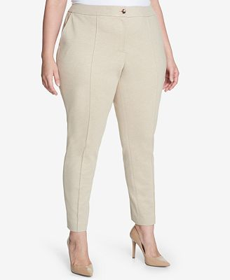 Tommy Hilfiger Plus Size Ponté-Knit Pants , Created for Macy's