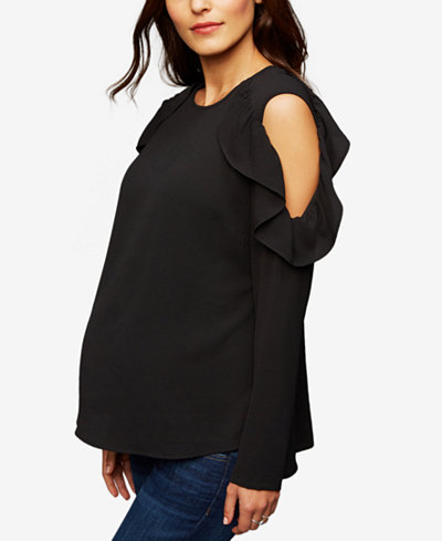 RIPE Maternity Cold-Shoulder Blouse