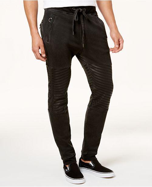 ff1714f75d True Religion Men's Tapered Fleece Moto Sweatpants & Reviews - Pants ...
