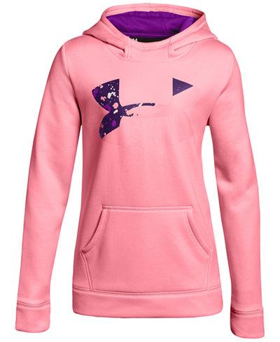 Under Armour Fleece Pullover Logo Hoodie, Big Girls