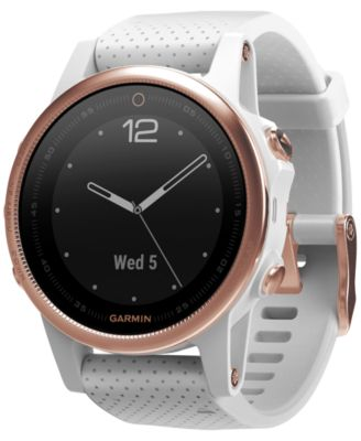 Unisex fenix® 5S White Silicone Strap Smart Watch 42mm