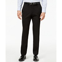 Kenneth Cole Reaction Mens Slim-Fit Stretch Gabardine Dress Pants