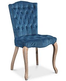 Nadia Rectangular Back Dining Chair, Quick Ship
