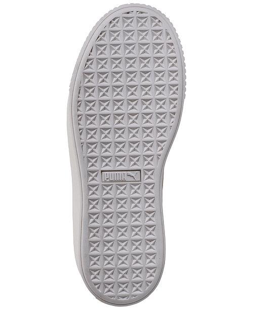 6423f2eaadf1 Puma Women s Suede Platform Crushed Gem Casual Sneaker   Reviews ...