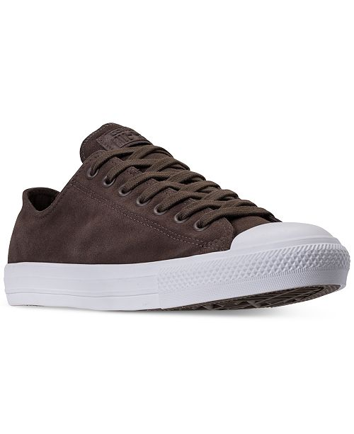 ... Converse Men s Chuck Taylor All Star Suede Ox Casual Sneakers from  Finish ... 67102ffc1