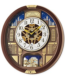 Melodies in Motion Brown Metallic Wall Clock