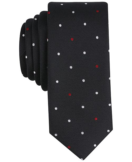 Bar III Men's Latour Dot Skinny Tie, Created for Macy's