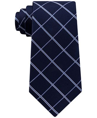 Club Room Men's Grid Silk Tie, Created for Macy's