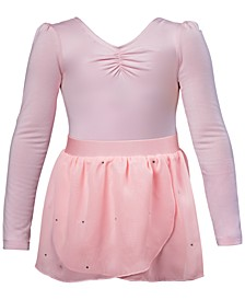 Ruched Leotard & Georgette Skirt, Little Girls & Big Girls