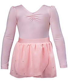 Flo Dancewear Ruched Leotard & Georgette Skirt, Little Girls & Big Girls