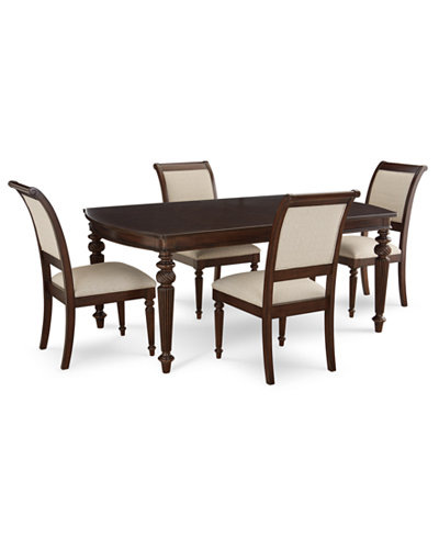 Syrah Dining Furniture, 5-Pc. Set (Dining Table & 4 Side Chairs)
