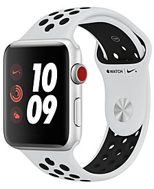 Apple Watch Nike+ (GPS + Cellular),  42mm Silver Aluminum Case with Pure Platinum/Black Nike Sport Band