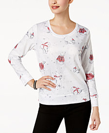 Style & Co Petite Embellished Polar Bear-Print Sweatshirt, Created for Macy's