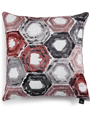 Hallmart Collectibles Hexagon Jacquard 20 Square Decorative Pillow Bedding