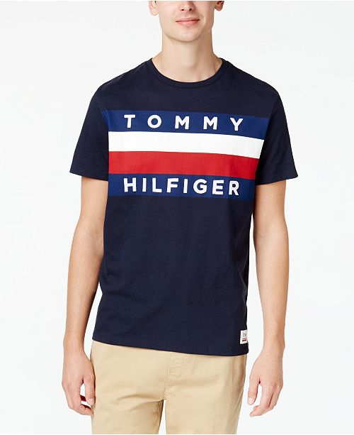 a20a25f67 Tommy Hilfiger Men's Upstate Logo Flag T-Shirt, Created for Macy's ...