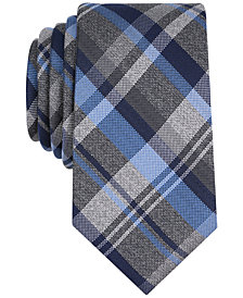 Perry Ellis Men's Twine Plaid Silk Tie