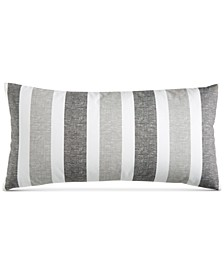 """CLOSEOUT! Texture Stripe 12"""" x 24"""" Decorative Pillow, Created for Macy's"""