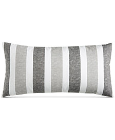 "Charter Club Damask Designs Texture Stripe 12"" x 24"" Decorative Pillow, Created for Macy's"