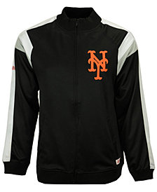 Dynasty Men's New York Mets Poly Ponte Track Jacket