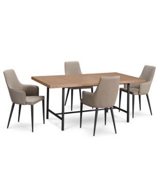 Selena Dining Furniture, 5 Pc. Set (Dining Table U0026 4