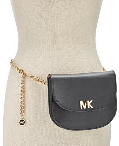 MICHAEL Michael Kors MK Turnlock Chain Belt Bag