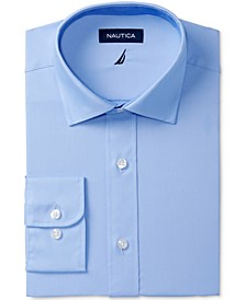 Men's Classic/Regular Fit Comfort Stretch Wrinkle Free Solid Poplin Dress Shirt
